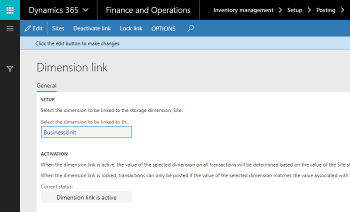 How to collect financial data by sites in Dynamics 365 for Finance