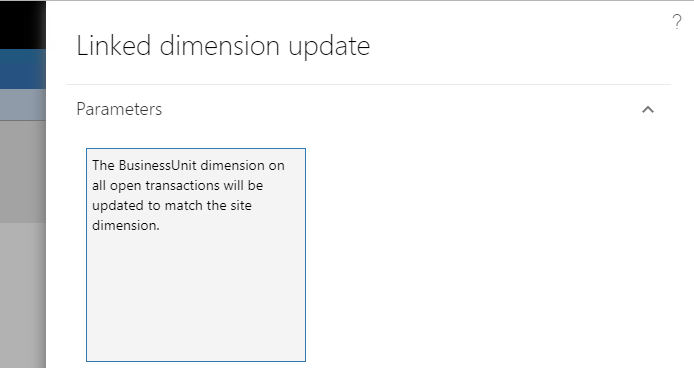 Link dimension update