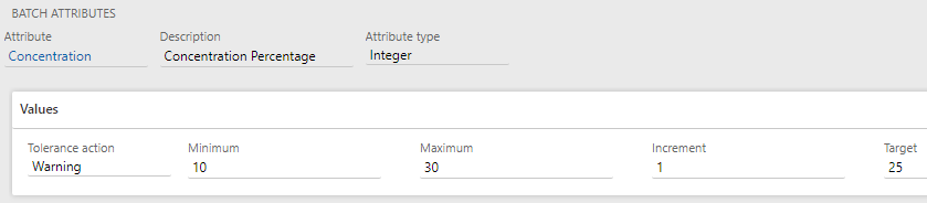 Batch attributes