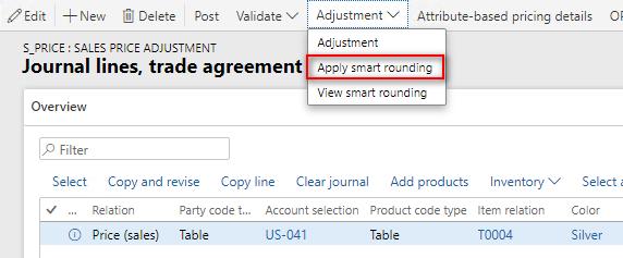 Smart rounding - apply
