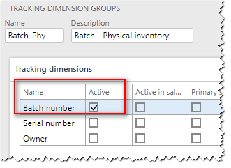 Tracking dimension groups